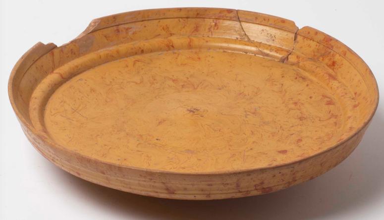 South Gaulish terra sigillata dish in Yellow Slip Ware