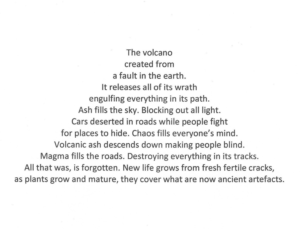 """""""The volcano"""" poem by Nicholas N, Competition 3.1 Winner"""